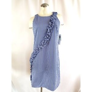 Maggy L. Size 8 Sleeveless Gingham Dress